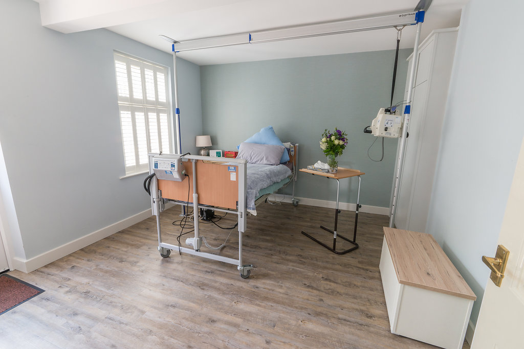 Newly updated hospital bed and living space